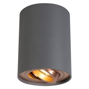 Ceiling Spotlight Grey with Copper - Rondoo Up