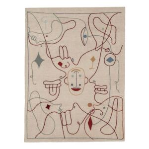 Silhouette Rug - / By Jaime Hayon - 200 x 300cm / Wool by Nanimarquina Multicoloured/Beige