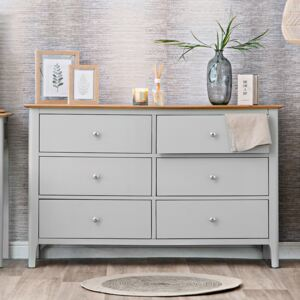 Bergen Grey Painted Oak Chest of 6 Drawers