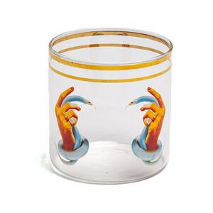 Toiletpaper - Hands with snakes Glass - / H 8.5 cm by Seletti Multicoloured