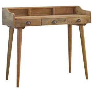 Nordic 3 Drawers Gallery Back Writing Desk