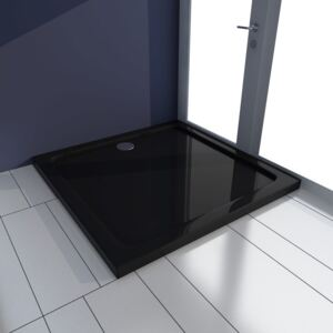 Square ABS Shower Base Tray Black 80 x 80 cm