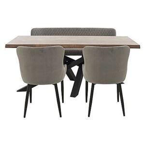 Sapporo Table, 2 Chairs and Bench Dining Set