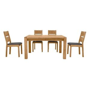 Bakerloo Small Extending Table and 4 Chairs Dining Set