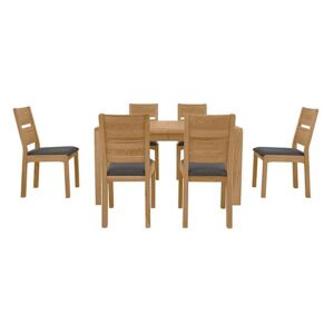 Bakerloo Small Extending Table and 6 Chairs Dining Set