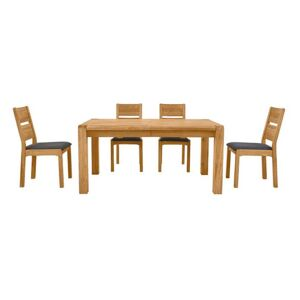 Bakerloo Large Extending Table and 4 Chairs Dining Set