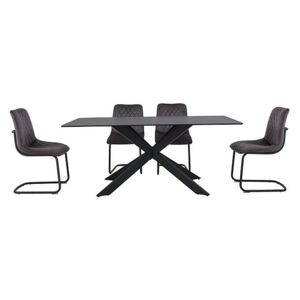 Creed Large Table and 4 Chairs Dining Set
