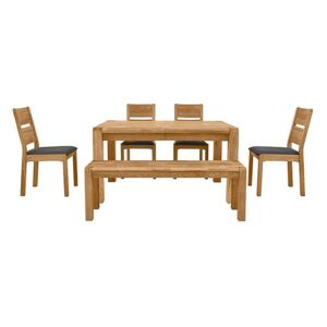 Bakerloo Small Extending Table, 4 Chairs and Small Bench Dining Set