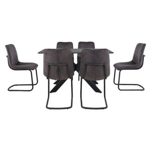 Creed Small Table and 6 Chairs Dining Set