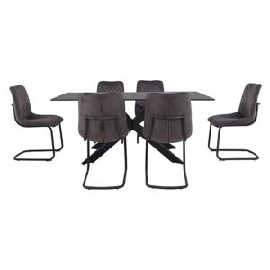 Creed Large Table and 6 Chairs Dining Set