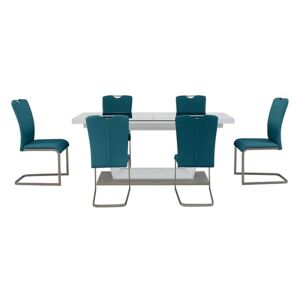 Bianco Large Extending Dining Table and 6 Chairs Dining Set