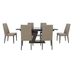 ALF - Trillo Dining Table and 6 Chairs - 210-cm - Beige