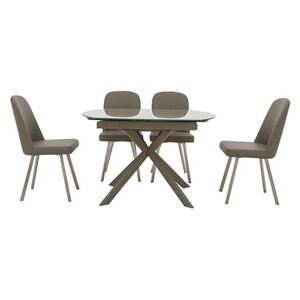 Wizard Extending Dining Table and 4 Chairs - Brown