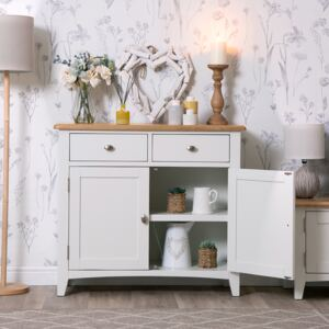 Gloucester White Painted Small 2 Door 2 Drawer Sideboard