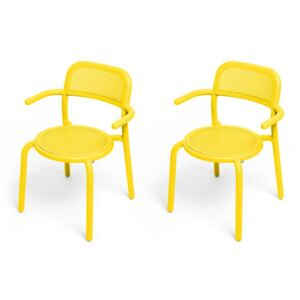 Toní Stackable armchair - / Set of 2 - Perforated aluminium by Fatboy Yellow