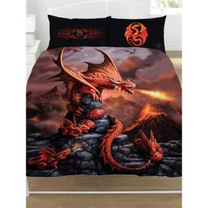 Anne Stokes Fire Dragon Double Duvet Cover and Pillowcase Set