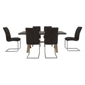 Fusion Small Table and 6 Chairs Dining Set