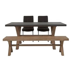 Fusion Large Table, 2 Chairs and Dining Bench Set