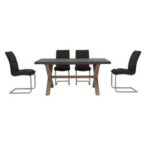 Fusion Small Table and 4 Chairs Dining Set