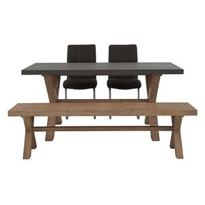 Fusion Small Table, 2 Chairs and Dining Bench Set