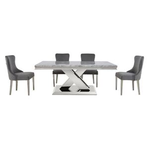 Dolce Dining Table and 4 Side Chairs