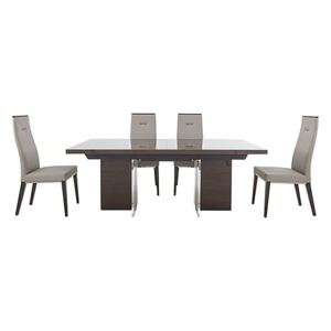 ALF - Corrado Extending Dining Table and 4 Dining Chairs - 210-cm