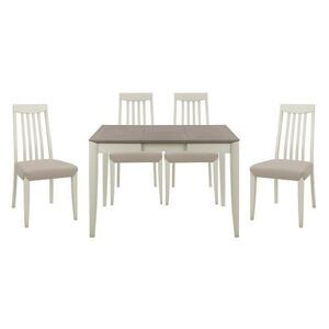 Skye Small Table and 4 Tall Chairs - Grey