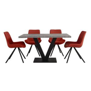 Rocket Dining Table and 4 Chairs Dining Set