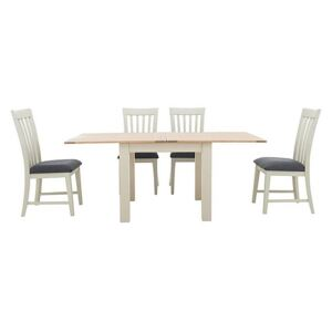 Furnitureland - Angeles Flip Top Extending Dining Table and 4 Wooden Dining Chairs