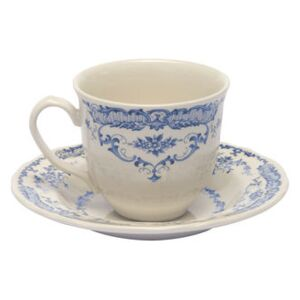 Rose Coffee cup - / With saucer by Bitossi Home White/Blue