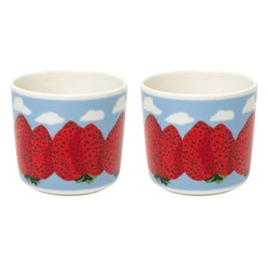 Mansikkavuoret Coffee cup - / Without handle - Set of 2 by Marimekko Blue/Red