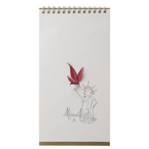 Flip Humour Vase - Paper by Pa Design White/Brown