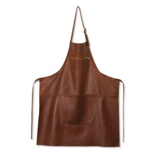 Apron - leather / Zipped pocket by Dutchdeluxes Brown