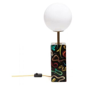 Toiletpaper - Snakes Table lamp - / China & glass - H 70 cm by Seletti White/Black