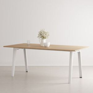 New Modern Rectangular table - / 190 x 95 cm - Eco-certified oak / 8 to 10 people by TIPTOE White