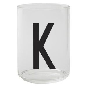 A-Z Glass - / Borosilicate glass - Letter K by Design Letters Transparent