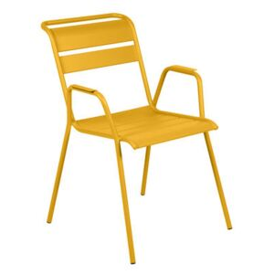 Monceau Stackable armchair - / Metal by Fermob Yellow