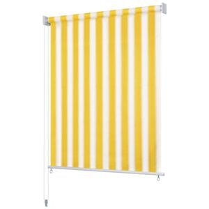 VidaXL Outdoor Roller Blind 240x140 cm Yellow and White Stripe
