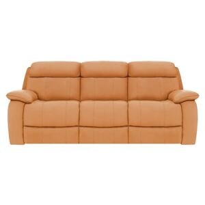 Moreno 3 Seater Leather Sofa - Yellow- World of Leather