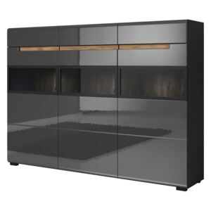 FURNITOP Chest of drawers HEKTOR HR48 anthracite gloss / appenzeller fichte