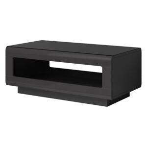FURNITOP Coffee table HEKTOR HR99 anthracite gloss / black glass