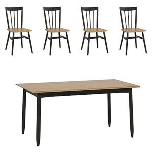 Ercol - Monza Small Extending Dining Table and 4 Dining Chairs