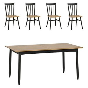 Ercol - Monza Medium Extending Dining Table and 4 Dining Chairs