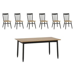 Ercol - Monza Medium Extending Dining Table and 6 Dining Chairs
