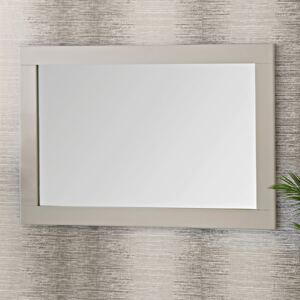 Chester Stone Painted Oak Large Wall Mirror 75 x 110cm