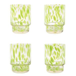 Tortoise Glass - / Set of 4 by & klevering Green