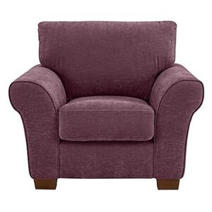 Rosie Handcrafted Supersoft Fabric Armchair - Purple