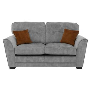 Nelly 2 Seater Fabric Sofa - Grey