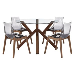 Calligaris - Mikado Dining Table and 4 Chairs - Grey