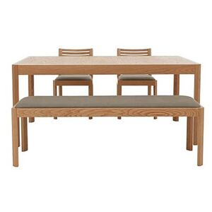 Ercol - Ella Medium Extending Dining Table, 2 Dining Chairs and Medium Dining Bench - Brown